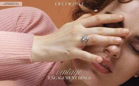 Screenshot of Home Page erstwhilejewelry.com - Engagement Rings | Erstwhile Jewelry | NYC - captured Sept. 11, 2016