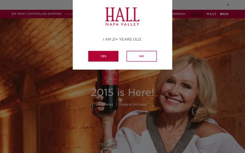 Screenshot of Home Page hallwines.com - Shop Napa Valley Wine | Tours and Tastings  | Napa Valley | HALL Wines - captured Sept. 30, 2018