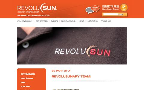 Screenshot of Jobs Page revolusun.com - Project Developer | RevoluSun - captured Oct. 5, 2014