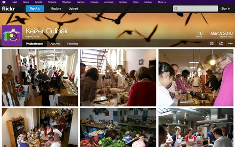 Screenshot of Flickr Page flickr.com - Flickr: KeizerCulinair's Photostream - captured Oct. 25, 2014
