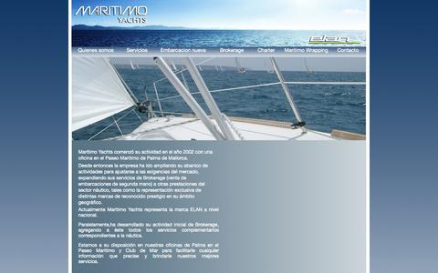 Screenshot of Home Page maritimoyachts.com - index - captured Sept. 30, 2014