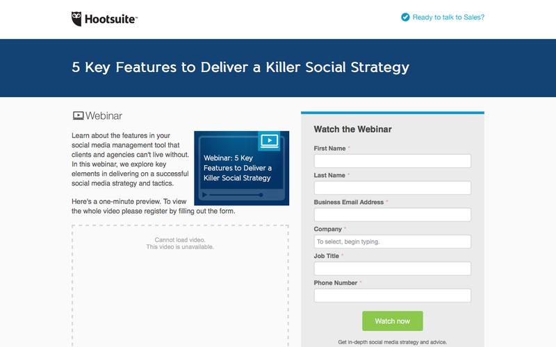 Webinar: 5 Key Features to Deliver a Killer Social Strategy | Hootsuite