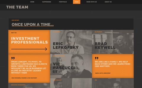 Screenshot of Team Page lightbank.com - Eric Lefkofsky & Brad Keywell (Co-Founders) & Lightbank Team - captured Feb. 6, 2019