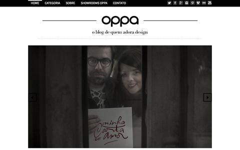 Screenshot of Blog oppa.com.br - Blog Oppa « Design para todos! Blog Oppa - captured Sept. 13, 2014