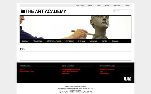 Jobs | The Art Academy - London