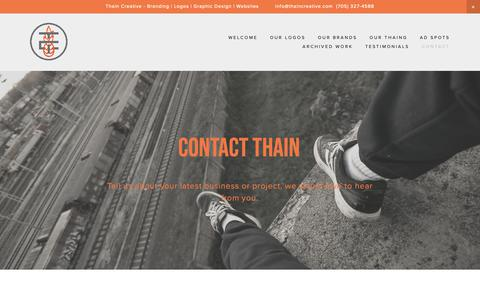 Screenshot of Contact Page thaincreative.com - Contact THAIN — Thain Creative - captured Oct. 20, 2018