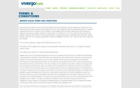 Screenshot of Terms Page vivergofuels.com - Vivergo - captured Oct. 7, 2014