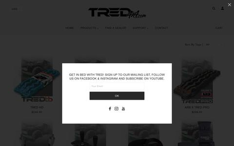 Screenshot of Products Page tred4x4.com - The TRED Range | TRED USA - captured Nov. 17, 2019