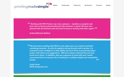 Screenshot of Testimonials Page windsor.uk.com - Printing Made Simple - Printers in South London - captured Oct. 3, 2014