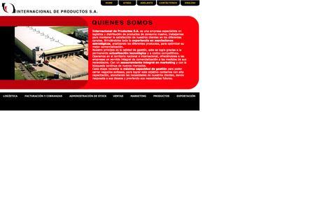 Screenshot of Home Page intdeproductos.com.ar - Internacional de Productos S.A - captured Oct. 3, 2014