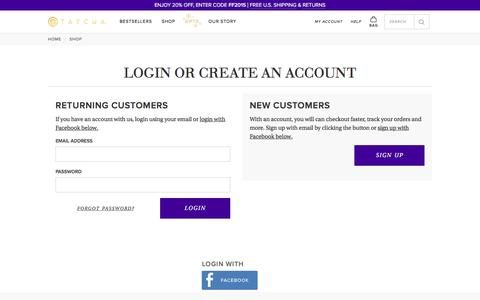 Customer Login  | Tatcha