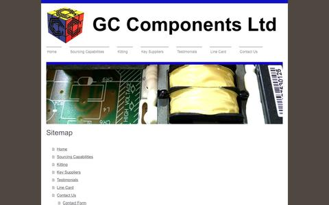 Screenshot of Site Map Page gc-components.com - GC Components Ltd - Home - captured Oct. 3, 2016