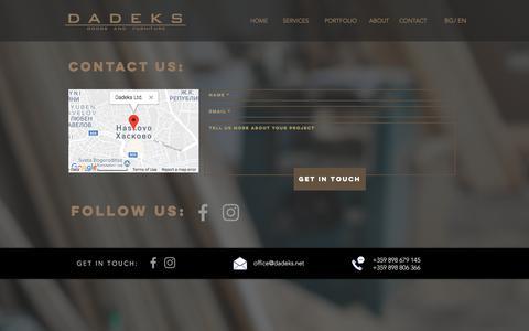 Screenshot of Contact Page dadeks.net - Dadeks Ltd. | CONTACT - captured Aug. 5, 2018