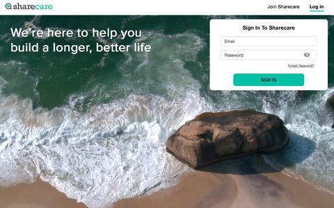 Screenshot of Login Page sharecare.com - Sharecare - captured Nov. 22, 2019