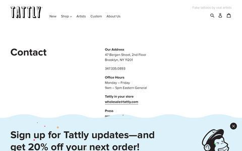 CONTACT - TATTLY – Tattly Temporary Tattoos