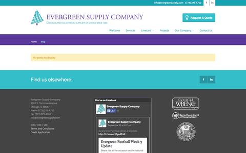 Screenshot of Blog evergreensupply.com - Evergreen  › Blog - captured Oct. 3, 2014