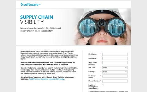 Screenshot of Landing Page softwareag.com - Supply Chain Visibility - captured June 4, 2018