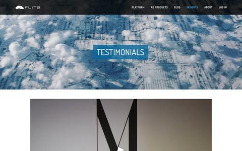 Screenshot of Testimonials Page flite.com - Testimonials · Flite - captured May 9, 2017