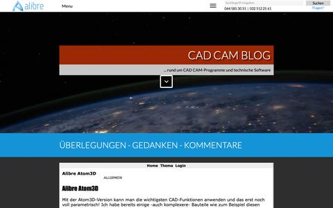 Screenshot of Blog alibre.ch - CAD-Blog - captured Oct. 30, 2018