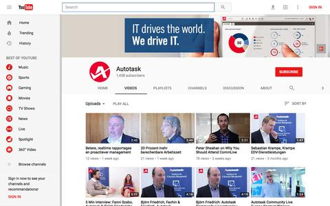Autotask - YouTube