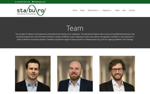 Screenshot of Team Page staburo.de - Team | Staburo GmbH - captured Dec. 1, 2016