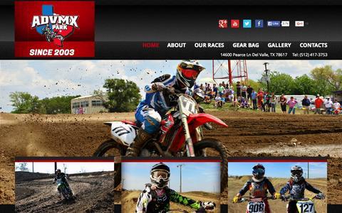 Screenshot of Home Page advmxpark.com - ADVMX Park | Since 2003 - captured Sept. 20, 2015