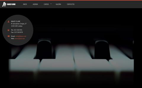 Screenshot of Home Page jbjazz.net - JBJAZZ CLUBE - captured April 26, 2016