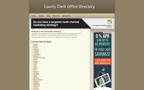 Screenshot of Home Page county-clerk.net - County Clerk Office - captured Sept. 25, 2014