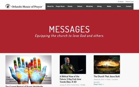 Screenshot of Press Page orlandohop.org - OHOP Messages - Orlando House of Prayer - captured Feb. 14, 2016