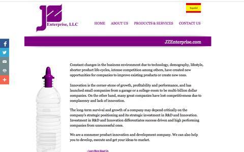 Screenshot of Home Page jzenterprise.com - Home: JZ Enterprise, LLC - captured Jan. 25, 2015