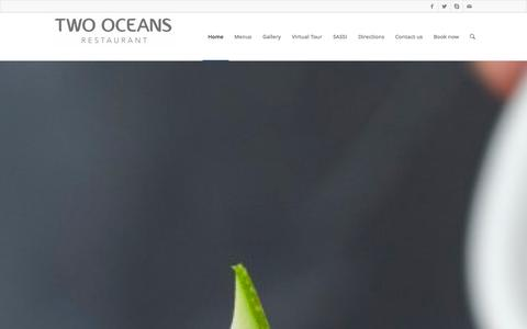 Screenshot of Home Page two-oceans.co.za - Two Oceans Restaurant | Sublime sushi, fine Cape seafood & world renowned views - captured Oct. 6, 2014