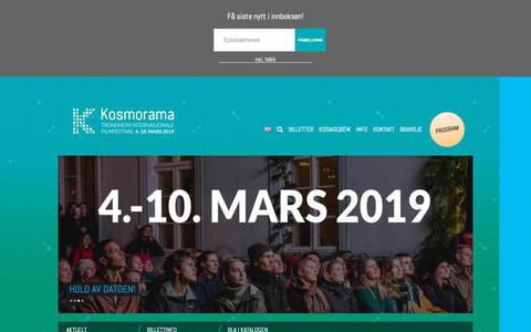 Screenshot of Home Page kosmorama.no - Kosmorama - KosmoramaKosmorama - captured Nov. 15, 2018