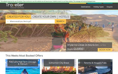 Screenshot of Home Page theinternettraveller.com - Multi-Centre Holidays & Twin Centre Packages Worldwide - captured Sept. 21, 2018