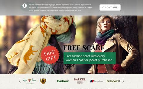Screenshot of Home Page kenvarey.co.uk - Outdoor and Country Clothing from Ken Varey's Outdoor World - captured Oct. 5, 2014