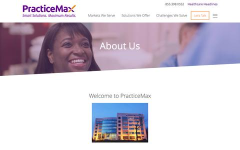 Screenshot of About Page abcmedical.net - About Us - PracticeMaxPracticeMax - captured Feb. 4, 2016