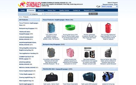 Screenshot of Products Page starbaileybag.com - Backpack-bag &luggage manufacturer - quality TRAVELING BAG--bagage&lugagge, COOLER BAG&LUNCH BAG&LUGGAGE - captured Nov. 15, 2016