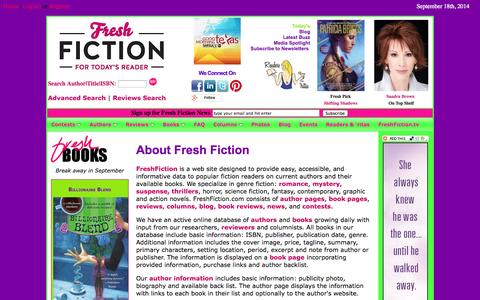 Screenshot of About Page freshfiction.com - Frequently Asked and Responses - captured Sept. 19, 2014