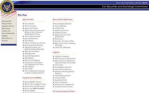 SEC Site Map