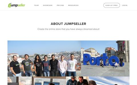 Screenshot of About Page jumpseller.com - About Jumpseller | The E-Commerce Builder - captured Oct. 4, 2018