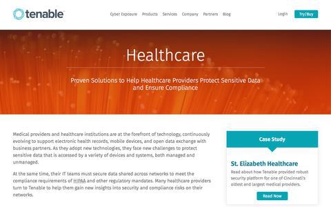 Healthcare | Tenable™
