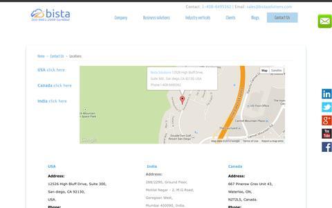 Screenshot of Locations Page bistasolutions.com - Locations - captured Oct. 30, 2014