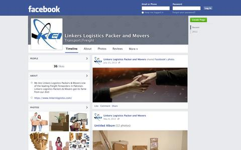 Screenshot of Facebook Page facebook.com - Linkers Logistics Packer and Movers - Lahore, Pakistan - Transport/Freight | Facebook - captured Oct. 27, 2014