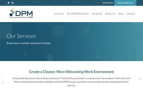 Screenshot of Services Page dpmcare.com - Services - DPM Care DPM Care - captured July 31, 2016