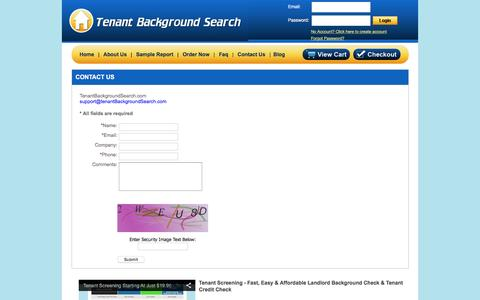 Screenshot of Landing Page tenantbackgroundsearch.com - Contact Us | Tenant Background Search - captured Dec. 10, 2015