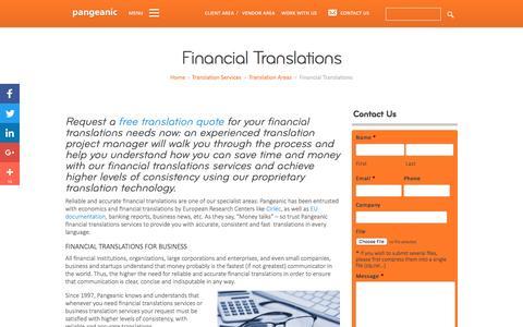 Financial Translations - Pangeanic Translations