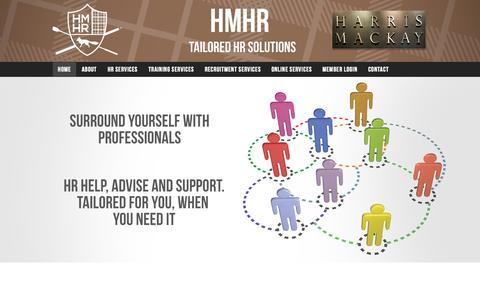 Screenshot of Home Page harrismackayhr.com - HMHR - captured Sept. 29, 2014