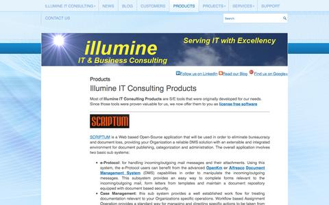 Screenshot of Products Page illumine.gr - Products | Illumine IT Consulting - captured Nov. 7, 2016