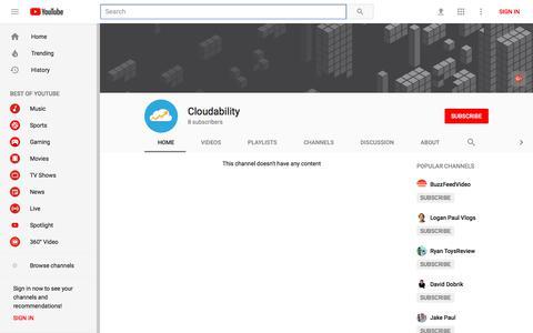Cloudability - YouTube - YouTube