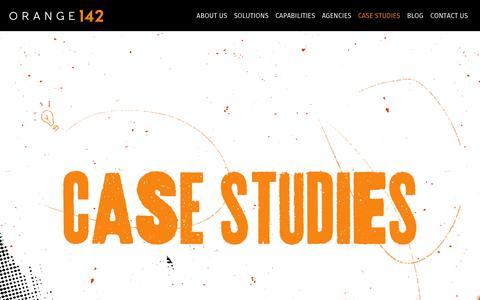 Screenshot of Case Studies Page orange142.com - Case Studies Archive - Orange142 - captured Sept. 20, 2018