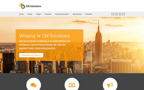 Screenshot of Home Page cm-solutions.pl - Home | CM Solutions - captured Oct. 1, 2014